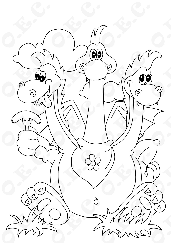 Змей-горыныч раскраска